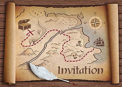 carte chasse au trésor Invitations en Français Chasse au trésor: Paquet de 10 Cartes d