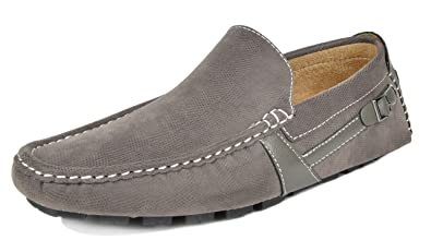 f4e03d2f697 Bruno Marc Men s KENDO-02 Grey Penny Loafers Moccasins Shoes Size 6.5 ...