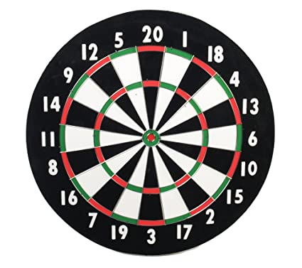 Amazon Com Classic Old English Style 18 Inch Double Sided Dartboard