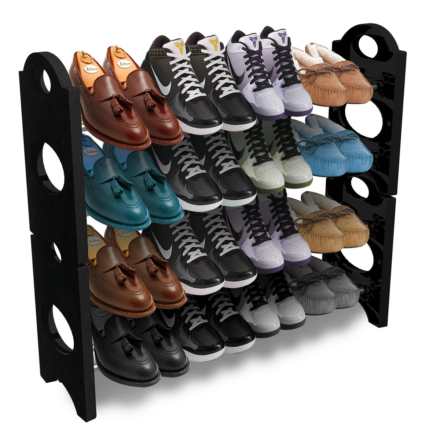 Amazon.com: Sorbus Shoe Rack Organizer Storage U2013 Stackable And Detachable U2013  Easy To Assemble U2013 No Tools Required, 4 Shelf: Home U0026 Kitchen