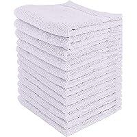 ShopBedding Washcloths White, Face Cloths, Face Towels Bulk, 100% Cotton Face Rag 12 Pack