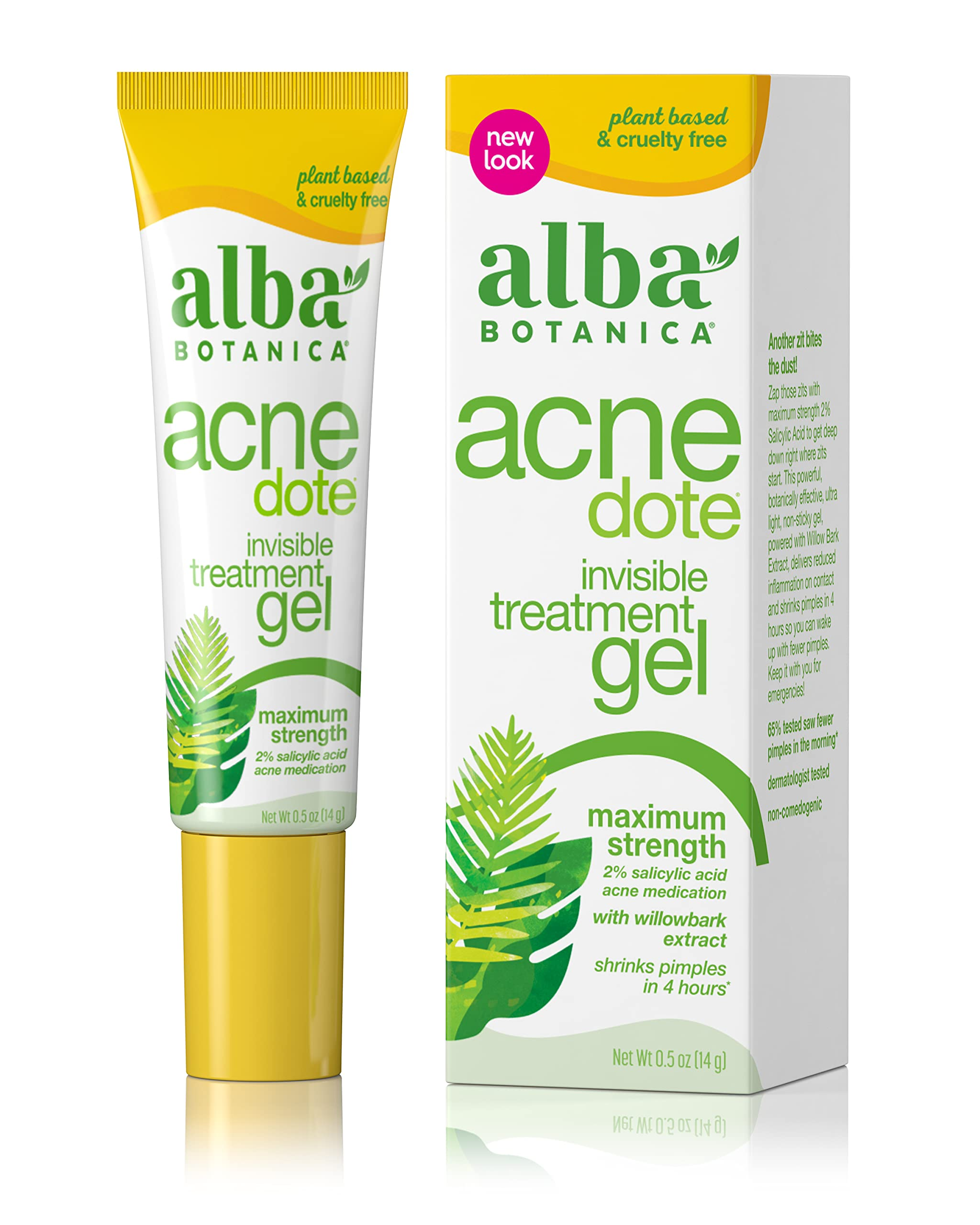 Alba Botanica Acnedote Maximum Strength Oz, Invisible Treatment Gel, 0.5 Ounce