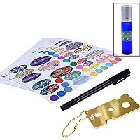 Kare & Kind etherische olie fles Sticker Kit met fles gereedschap met ketting en pen voor label schrijven