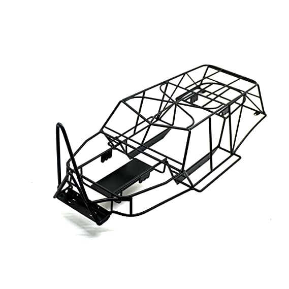 Amazon Com 110 Scale Rc Truck Steel Frame Body Roll Cage Set Black