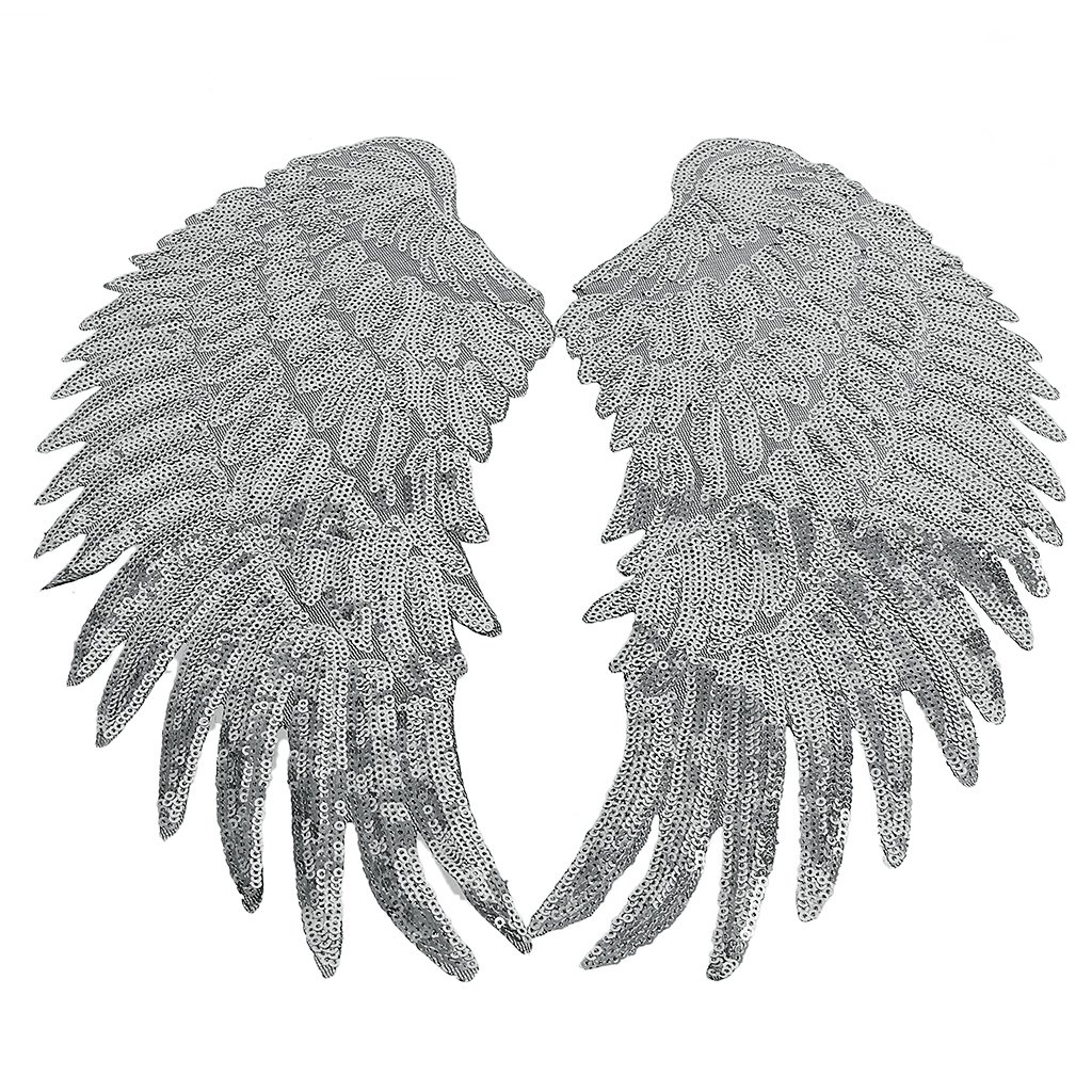 Amazon.com: Flameer 2 Pair Fashion Sequins Angel Wings Patches Appliques Garments Accessories for T-shirt Jeans Clothes Bags Decor: Home & Kitchen