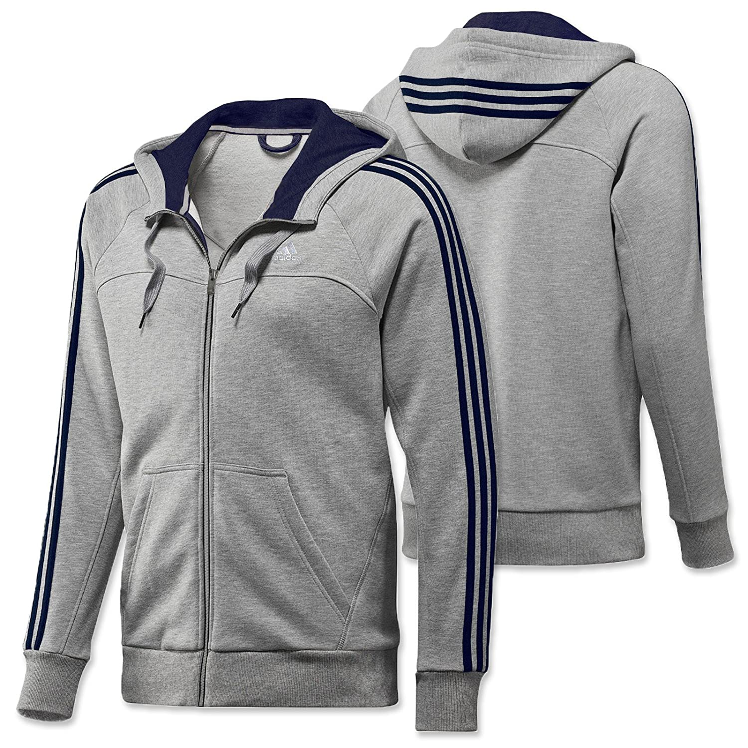 3925d3236f5f Adidas Men's Hooded Pullover men's Hooded Top Essentials 3 Stripe ...