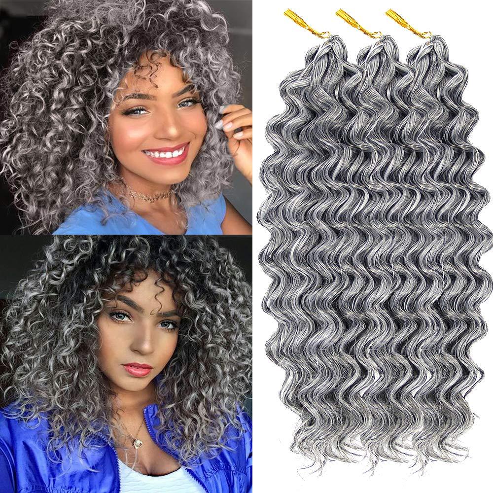 Amazon Com Deep Wave Crochet Braids Hair Extension Synthetic Kanekalon Braiding Hair Short Crochet Hair 10inch Synthetic Hair 51 3piece Beauty