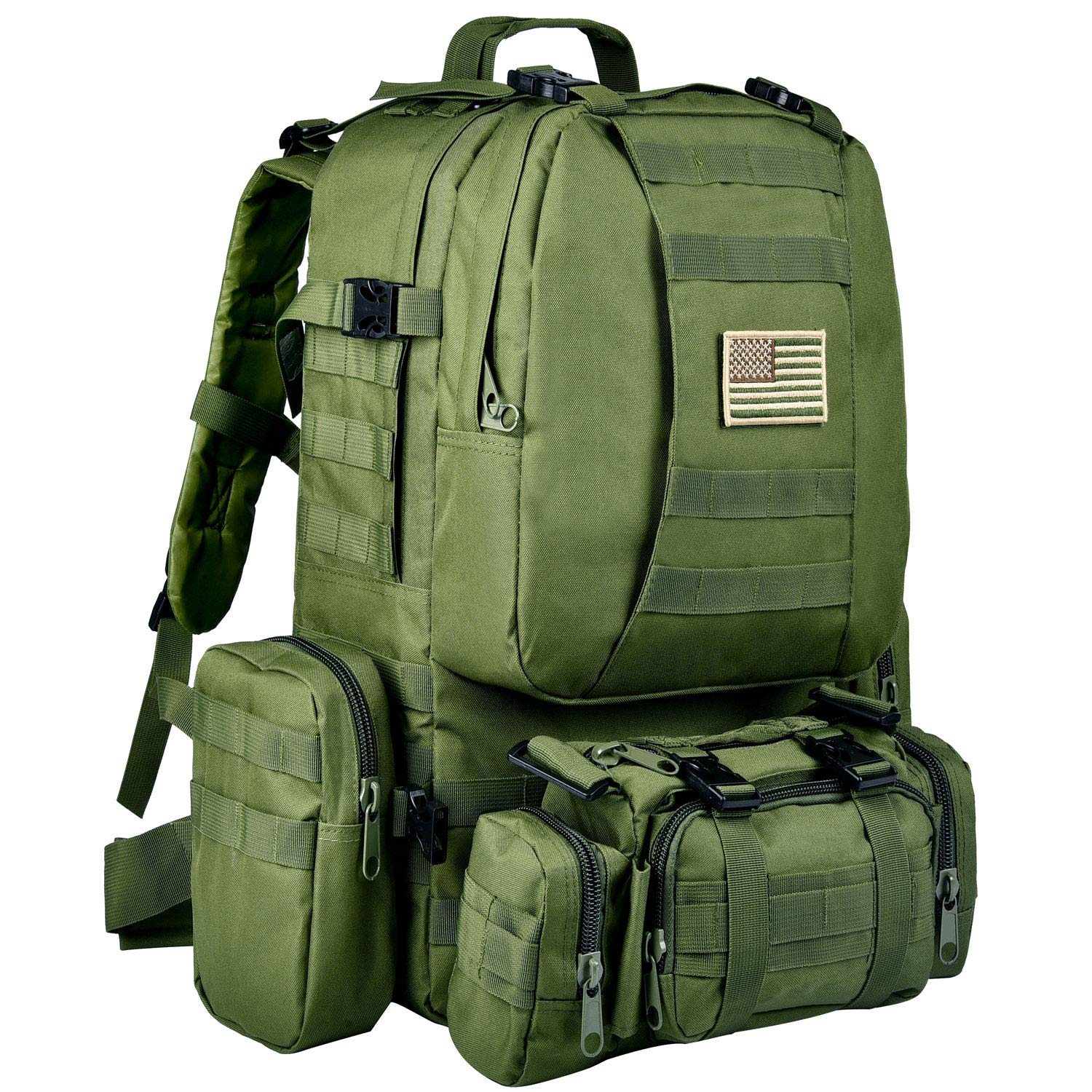 CVLIFE Military Tactical Backpack Built-up Army Rucksack Survival Assault Green by CVLIFE