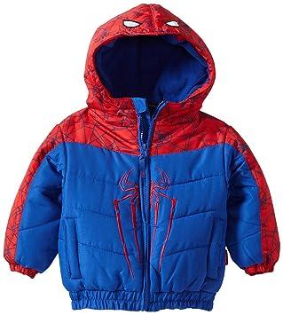 Spiderman Invierno Niños chaqueta Anorak con capucha Forro ...