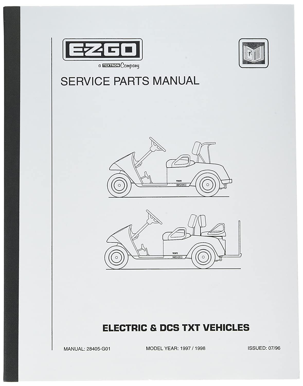 Amazon.com : EZGO 28405G01 1997-1998 Service Parts Manual for Electric and  DCS TXT Golf Cars : Outdoor Decorative Fences : Garden & Outdoor