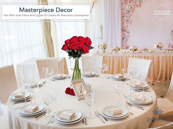 Royal Imports Jarrón de vidrio de flores con eje central decorativo para boda o hogar 4 Pulgadasde ancho x 4 Pulgadas de alto Claro: Amazon.es: Hogar