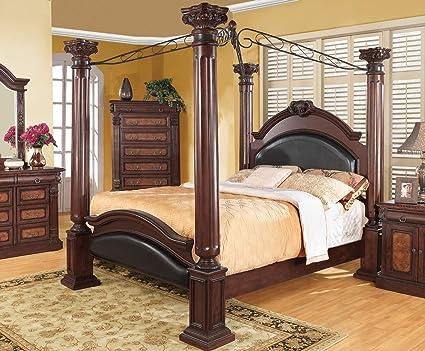 coaster grand prado 4 piece california king canopy bedroom set - Canopy Bedroom Sets