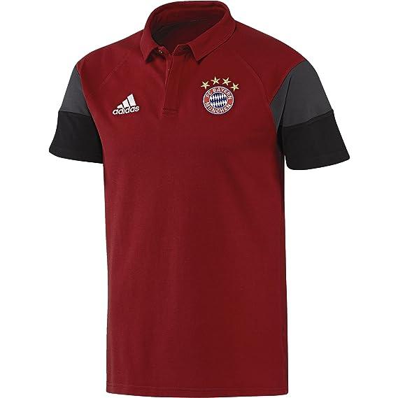 adidas Línea FC Bayern Polo, Rojo (Rojvic), M: Amazon.es: Ropa y ...