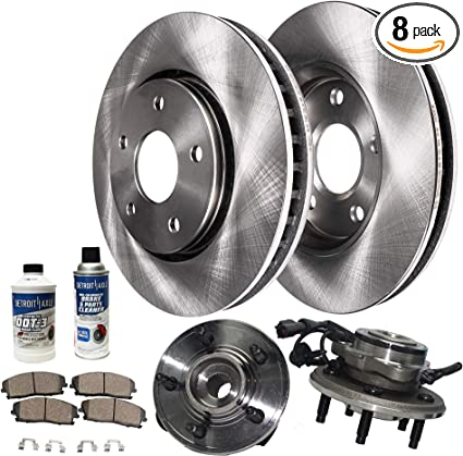 2006 2007 2008 For Mercury Mountaineer Front Brake Rotors and Ceramic Pads