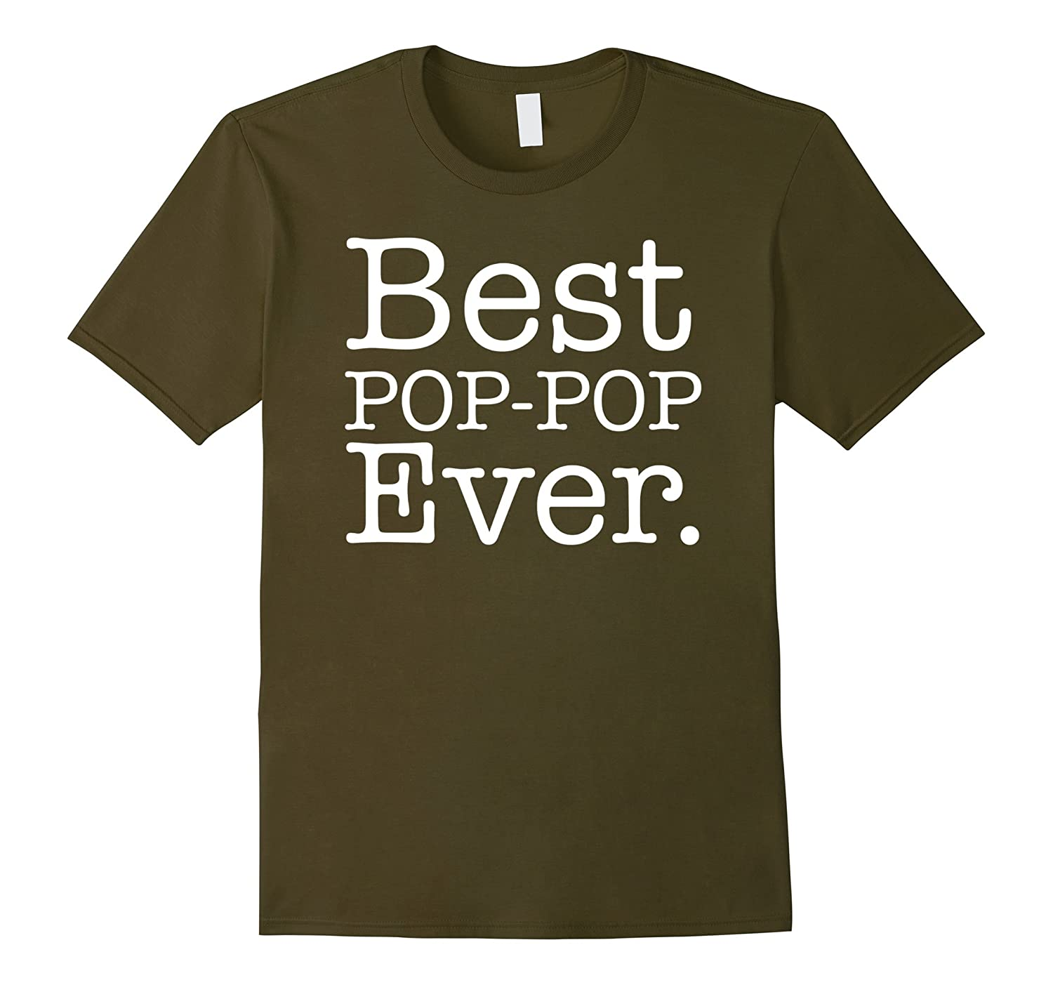 Mens Best POP POP Ever Shirt Funny Grandpa Shirts for Fathers Day-Vaci