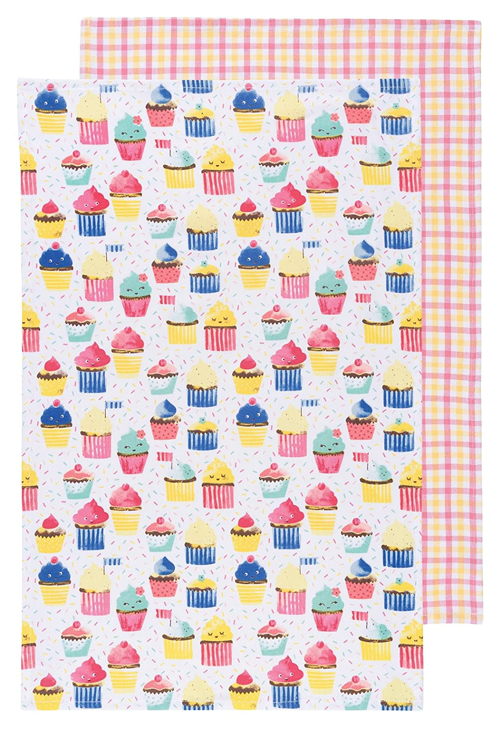 Now Designs Kitchen Dishtowels, Set of Two, Cupcakes