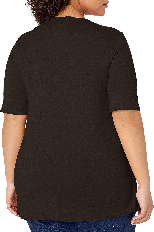 Star Vixen Womens Plus-size Elbow Sleeve With 4-Row Stud Trim Detail,Black//Plum,1X
