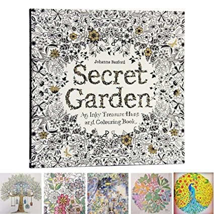 MENGCORE 25cm X 96 Pages English Secret Garden Coloring Books For Adults Relieve Stress Kill