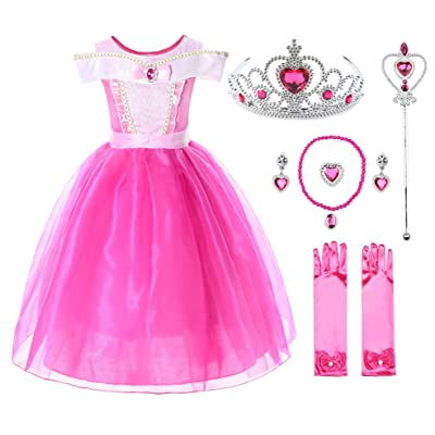 JerrisApparel Girls Princess Costume Dress Pageants Party Fancy Dress: Clothing