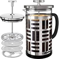 Mueller SOHO French Press Coffee Maker (8 cups, 34 oz), 304 Stainless Steel Coffee Press with 4 Stage Filtration…