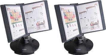 Black BSN62888 Business Source Deluxe Catalog Display Racks 20 Documents