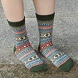 Mens Warm Wool Socks Thick Winter Thermal Stripe