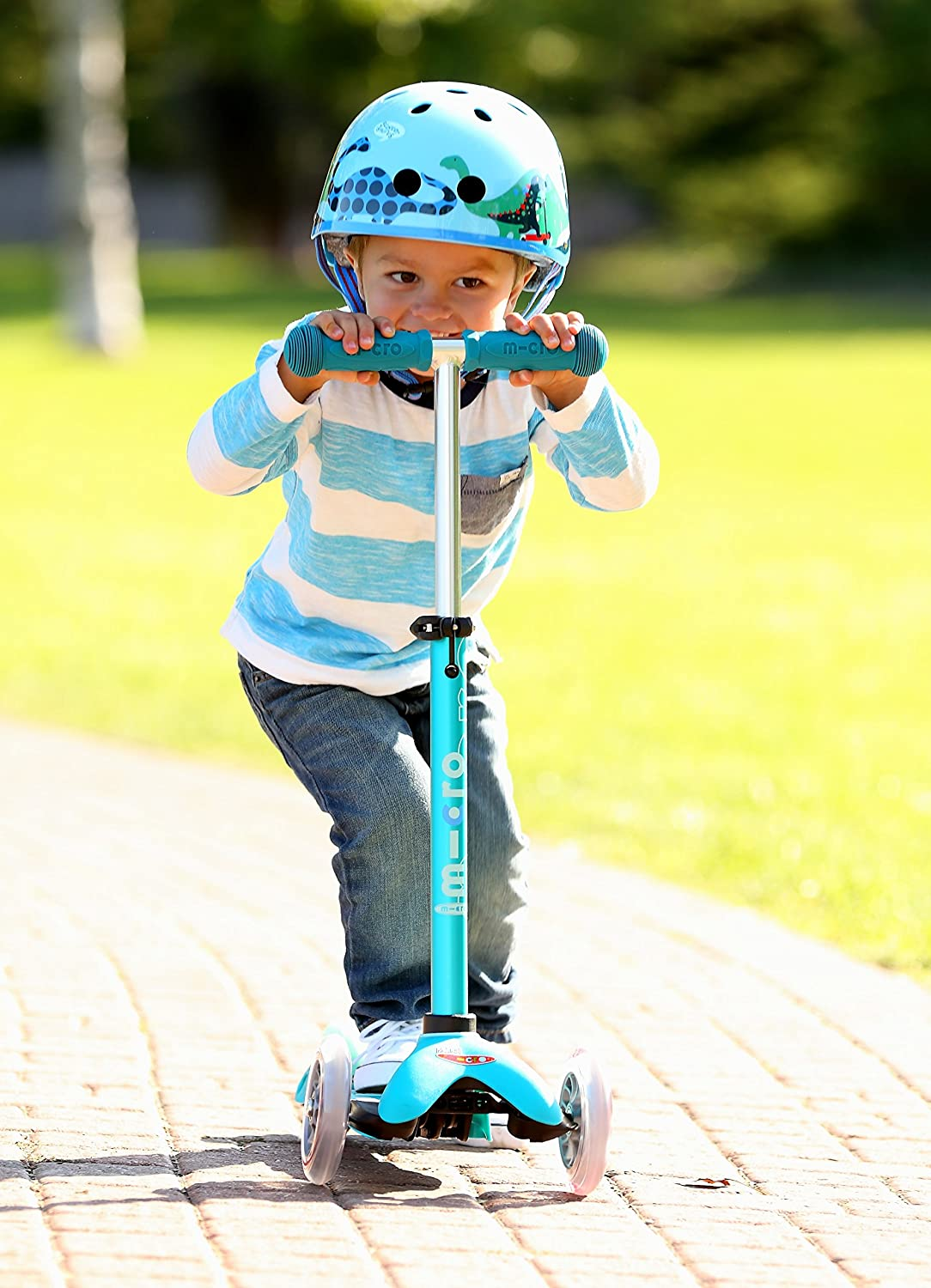 Mini Deluxe 3-Wheeled, Lean-to-Steer, Swiss-Designed Micro Scooter for Kids, Ages 2-5