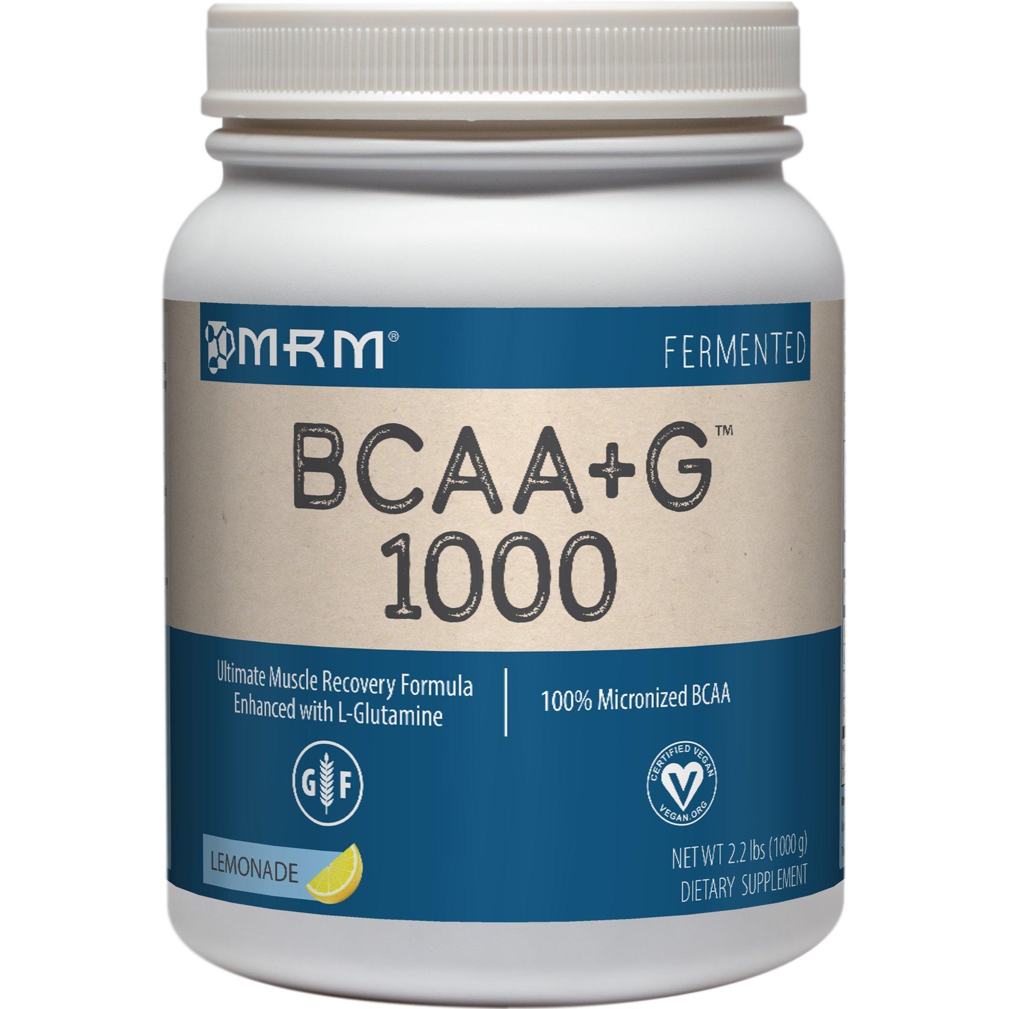MRM  BCAA+G, Lemonade, 35.2-Ounce (1000g) Plastic Jar