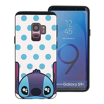 1a35e3e7ac Galaxy S9 Plus ケース Disney Stitch ディズニー スティッチ ダブル バンパー ケース/二層構造 TPU