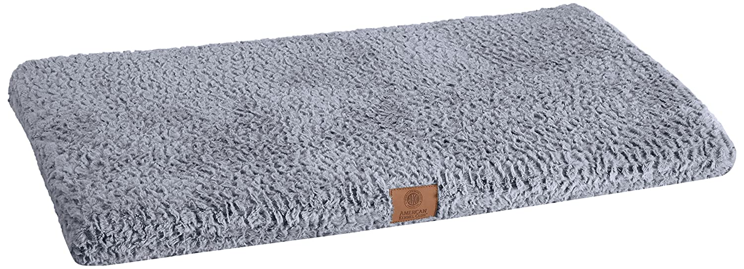 Gray 42 by 27-Inch American Kennel Club Orthopedic Crate Mat