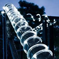 100 luces LED de cuerda solar de 12