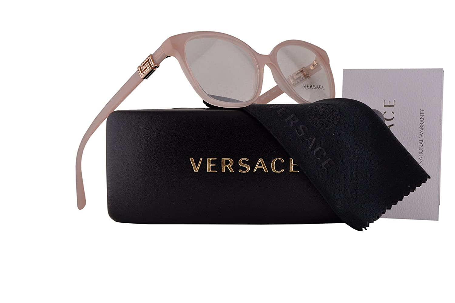 77b5ed470b6 Amazon.com  Versace VE3235B Eyeglasses 52-16-140 Light Pink w Demo Clear  Lens 5224 VE 3235B  Clothing