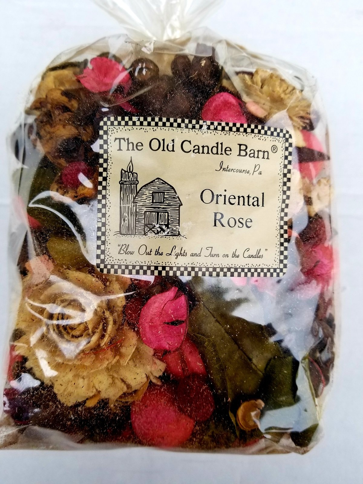 Old Candle Barn Oriental Rose Potpourri Large Bag - Perfect For Spring, Summer, Fall, and Winter Decoration or Bowl Filler