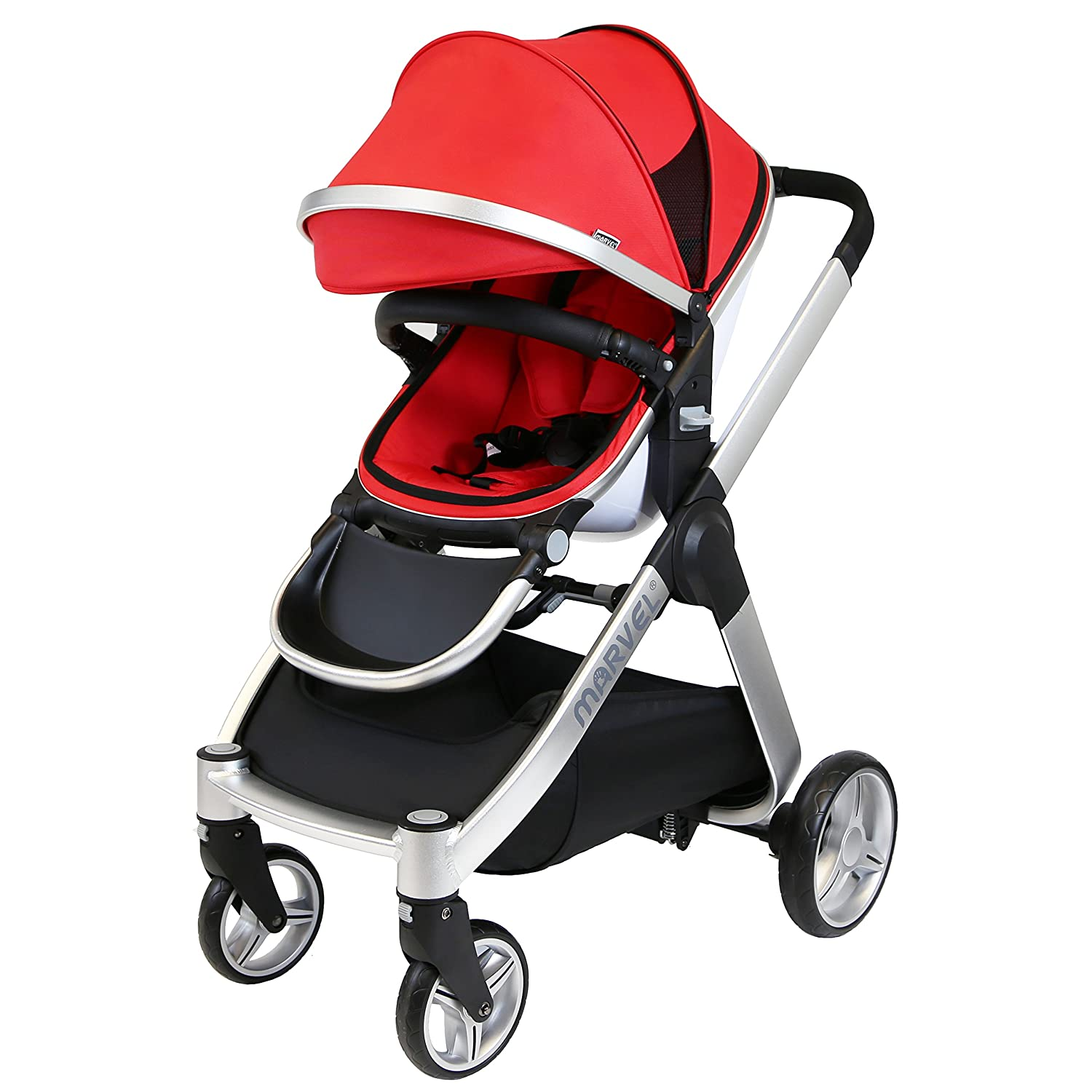 Red Pearl iSafe Marvel 3in1 Travel System Includes Car Sea /& Carrycot