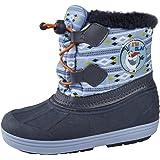 Boys Disney Frozen Olaf Snow Boots Waterproof Olaf Rain Wellies Kids Warm Winter Size