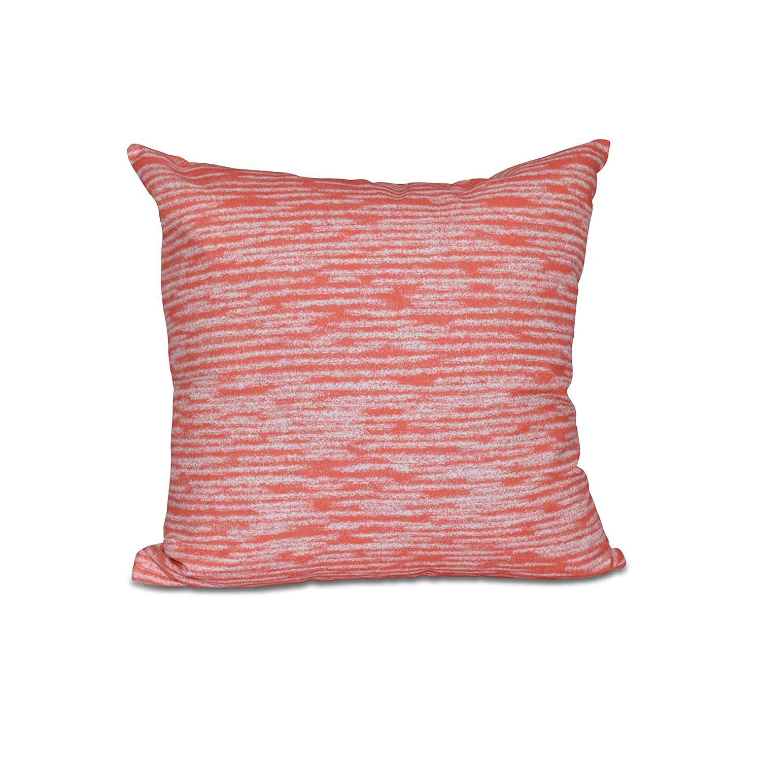 Geometric Print Pillow 16x16 Red//Orange E by design PGN451OR13-16 16 x 16-inch Marled Knit