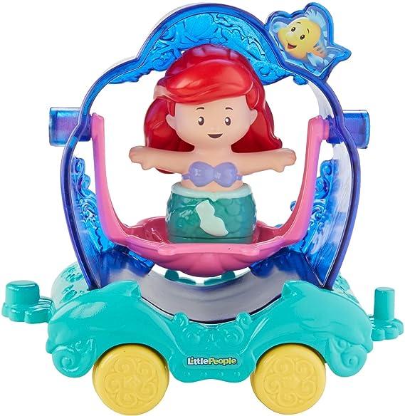 Amazon.com: Fisher-Price Little People Disney Princess, Parade Ariel & Flounders Float: Toys & Games