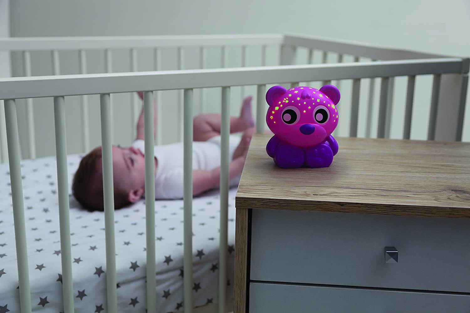 Licht Projector Baby : Amazon.com: playgro goodnight bear night light and projector pink: baby