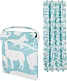 AmazonBasics Portable Kids Travel Window Blackout Curtain Shades with Suction Cups - Teal Zoo