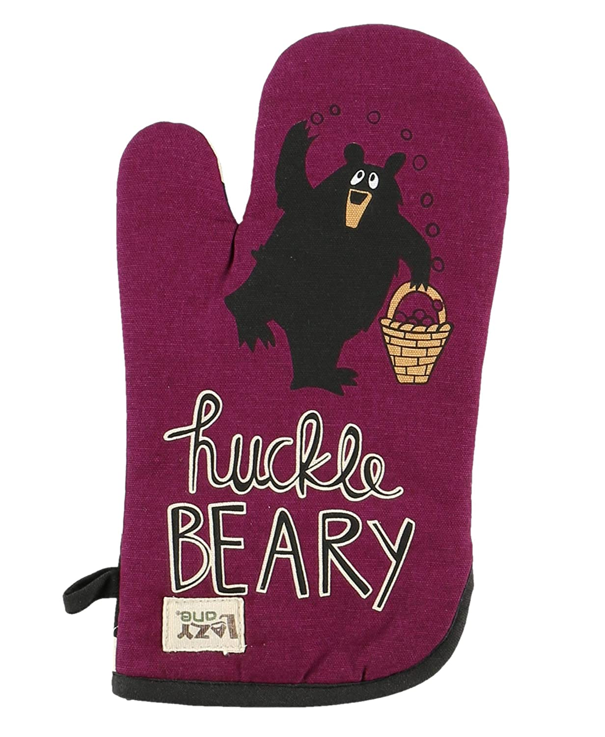 Huckleberry Durable Canvas Cottons Oven Mits by LazyOne | Cabin, Home and Kitchen Animal Gifts (ONE Size)