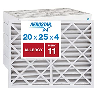 4 PACK 20x20x1 MERV 8 Pleated AC Furnace Air Filters Actual Size:19-1//2 x 19-1//2 x 7//8