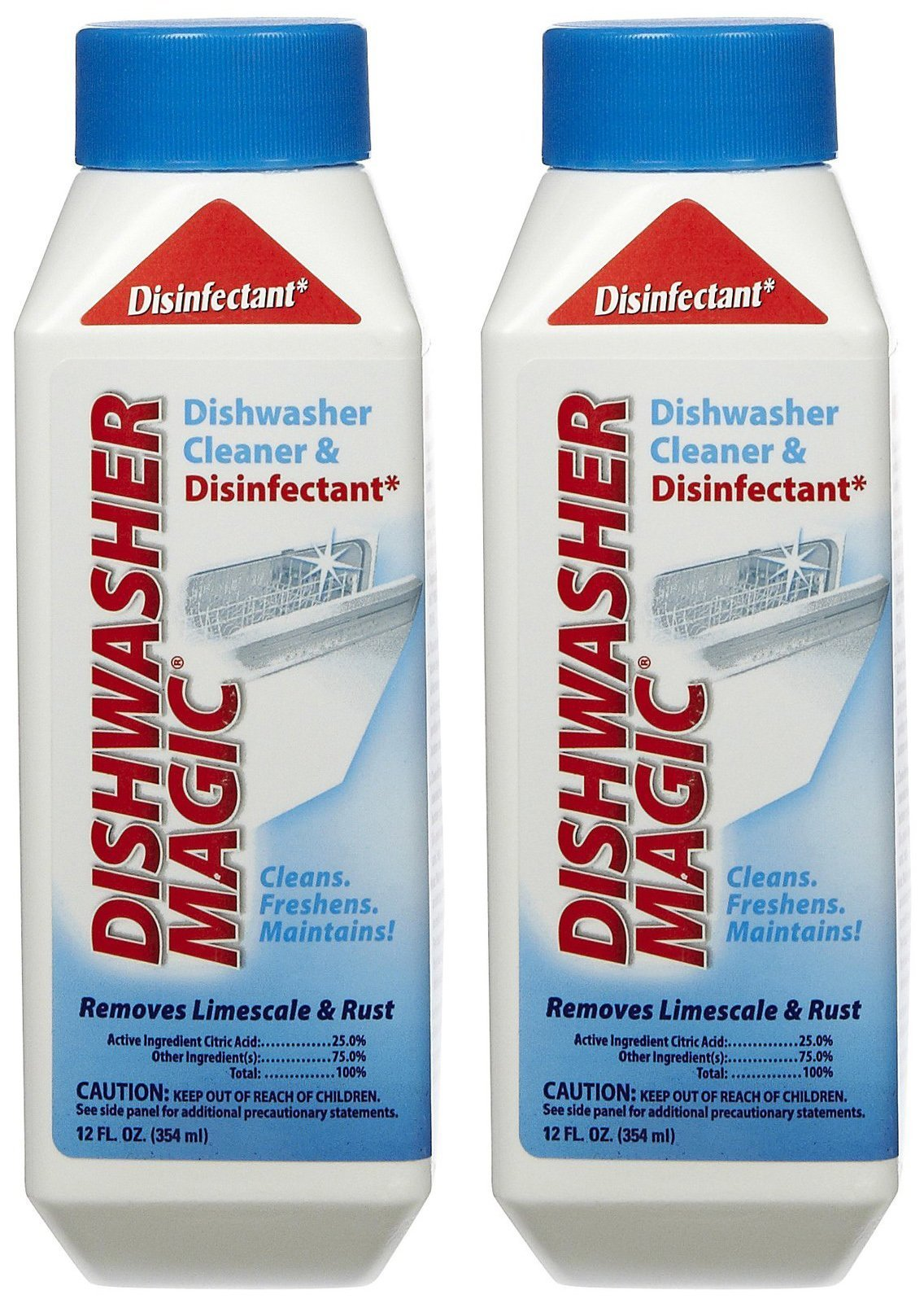 Dishwasher Magic Cleaner and Disinfectant, 12 oz., Pack of 2