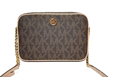 amazon com michael kors fulton large east west pvc crossbody rh amazon com