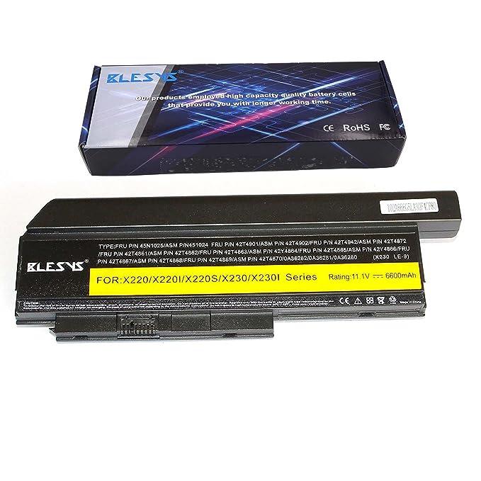 BLESYS Lenovo ThinkPad X220 X220i X220s X230 X230i batería reemplazo batería extendida para 42T4861 42T4941 42T4942 42T4862 42T4901 42T4866 45N1024 42T4867 ...
