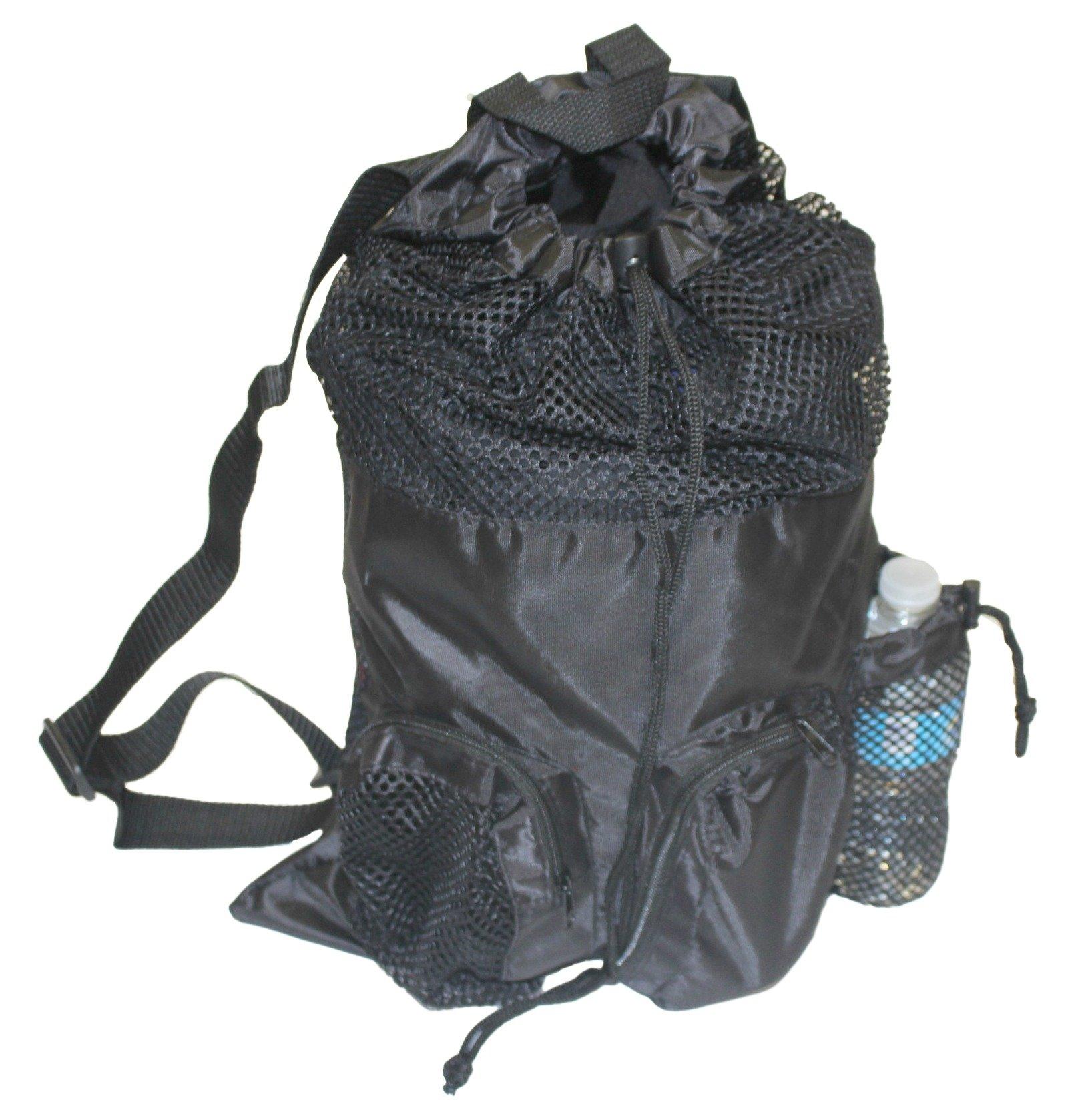 Adoretex Ultrastar Big Mesh Equipment Sport Drawstring Gym Swim Bag - UMB001 - Black