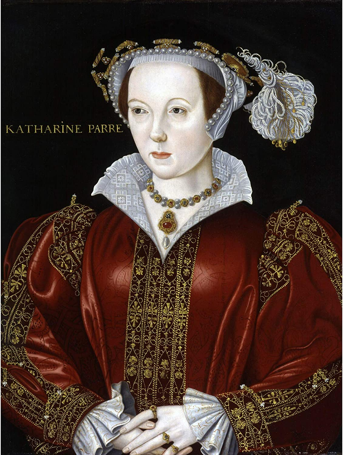 Scrotts Portrait Catherine Parr Painting Canvas Art Print Poster