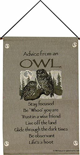 Manual Your True Nature Wall Hanging, Advice from an Owl, 16 X 26-Inch