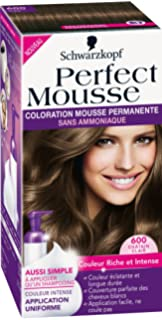 schwarzkopf perfect mousse coloration permanente chtain clair 600 - Shampoing Colorant Schwarzkopf