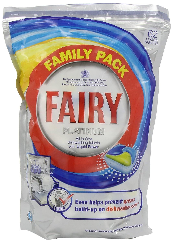 Fairy Platinum Lemon - Pastillas para lavavajillas (55 ...