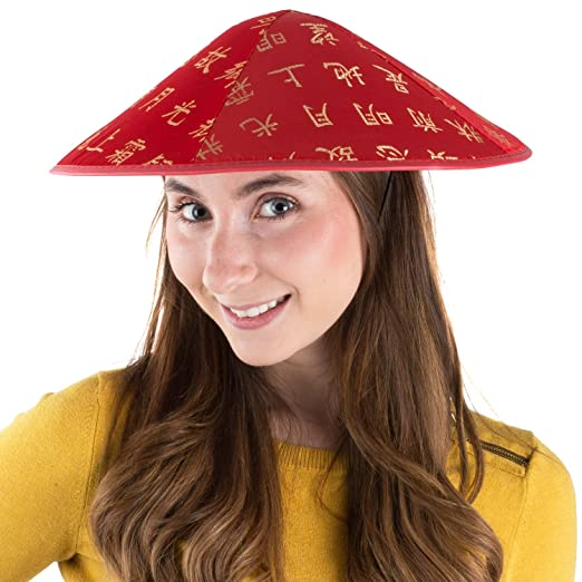 Amazon.com  Oriental Hat - Asian Hat - Chinese Hat - Japanese Hat - Chinese  Costume Accessories - by Funny Party Hats  Health   Personal Care 7650eed31537